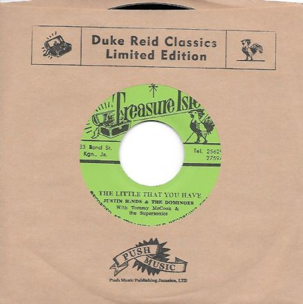 Justin Hinds & The Dominoes - The Little That You Have (Treasure Isle  / Corner Stone) JPN 7""